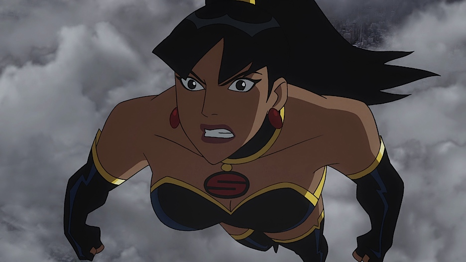 Superwoman flies into battle
