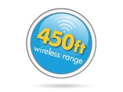 450ft Wireless Range