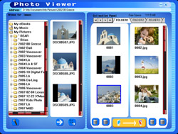 Load your photos with the inlcuded Photo Viewer Software