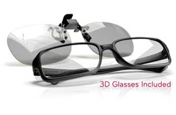 TWO PAIRS OF 3D GLASSES INCLUDED