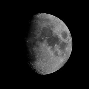 Moon as seen with the low power eyepiece, 35X