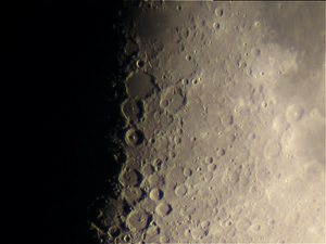 Moon as seen at 200X, shot with a powershot camera.