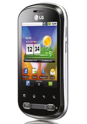 LG P350 mit vorinstallierten Social Media Clients