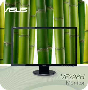 VE228H mainimage. V194034178  Asus VE228H 21.5 Inch Full HD LED Monitor with Integrated Speakers