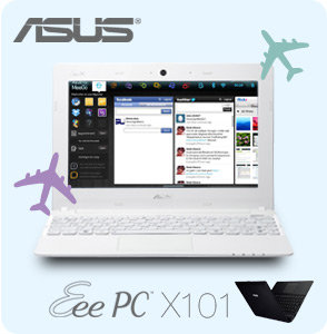 X101 EU37 mainimage. V152428815  ASUS X101 EU17 BK 10.1 Inch Netbook (Black)