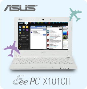 Stay connected with the Eee PC X101CH