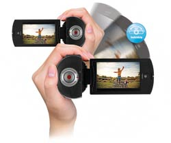 Samsung Q10 SwitchGrip Full HD Camcorder feature shot