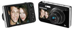 Samsung PL170 DualView 16 Megapixel Digital Camera (Black) Product Shot