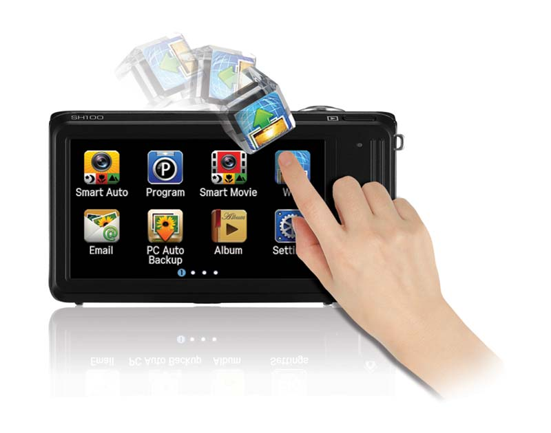 Smart Touch interface features familiar drag-and-scroll functionality