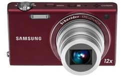 Samsung WB210 14 Megapixel Slim Digital Camera (Red) Product Shot