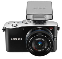 Samsung NX100 14.6 Megapixel Interchangeable Lens Digital Camera Including Kit with Flash product shot