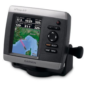 Garmin GPSMAP 421 4-Inch Waterproof Marine GPS and Chartplotter
