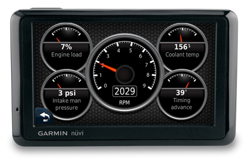 Garmin ecoRoute HD Vehicle Diagnostics Communicator and nüvi GPS