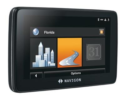 """NAVIGON 7200T GPS-LIFETIME TRAFFIC-BLUETOOTH-5"""" INCH ..."""