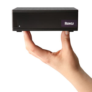 roku box in hand