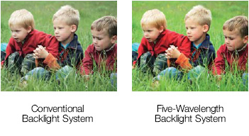 five-color wavelength