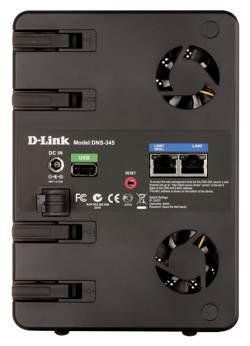 DNS-345 rear