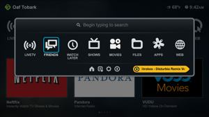 boxee menu