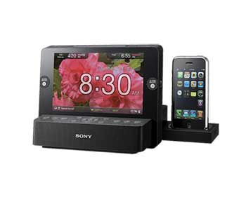 Sony icfcl75ip 30 pin iphone ipod clock radio for Bedroom g sammie mp3