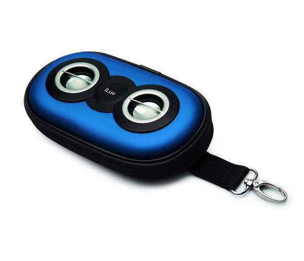 Amazon.com: iLuv SmashBox 3.5mm Aux Portable Speaker Case (Blue): MP3