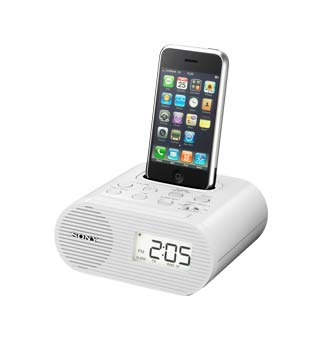 Sony ICF C05iP Clock Radio for iPod (White)  Players
