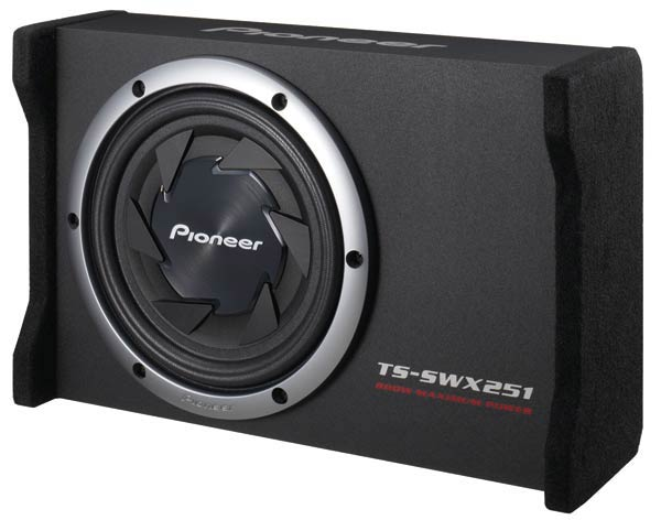 """Amazon.com : Pioneer TS-SWX251 10"""" Flat Subwoofer with Enclosure 800"""