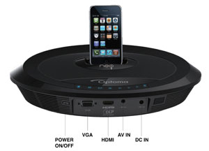 Optoma Neo-i / DV20A Portable Multimedia Projector iPod/iPhone Dock with Built-In Speakers