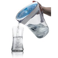 Pouring from Filtrete Water Pitcher