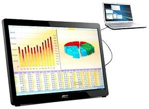 AOC e1649 16-inch USB Monitor