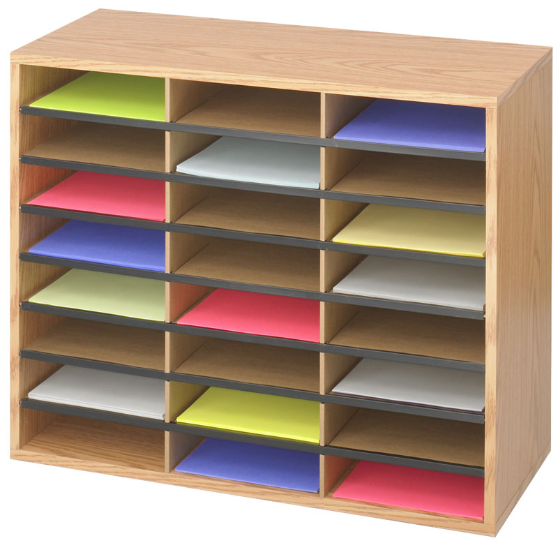 Good Series features sturdy corrugated fiberboard compartments in wood