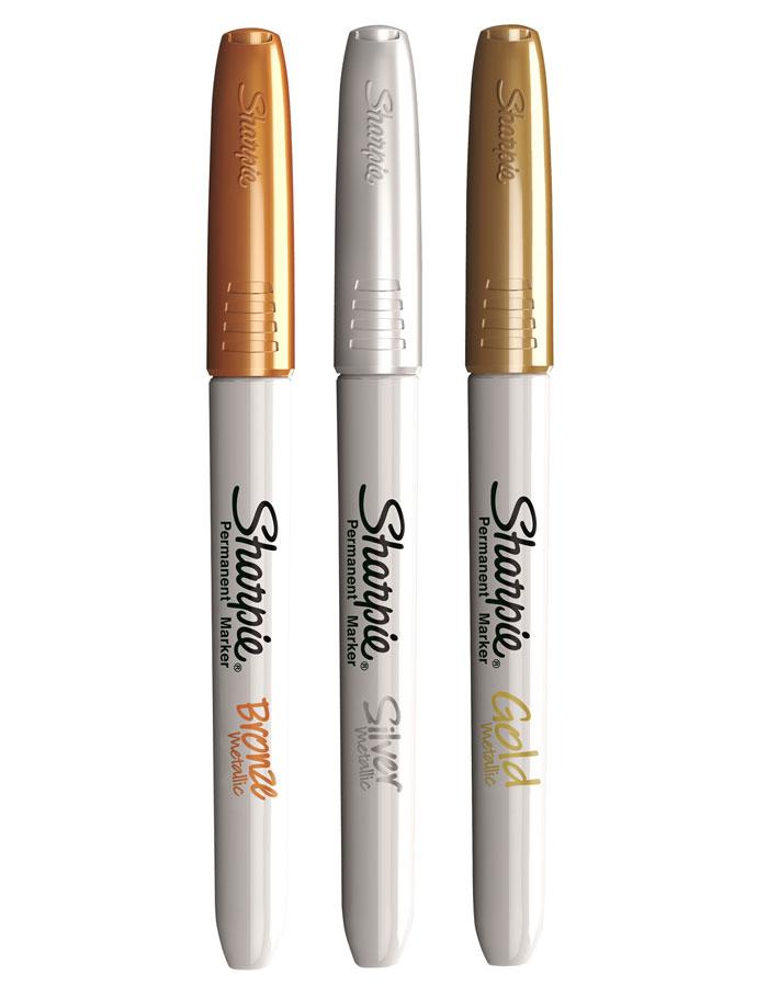 Amazon.com: Sharpie Metallic Fine Point Permanent Markers, 3 Markers
