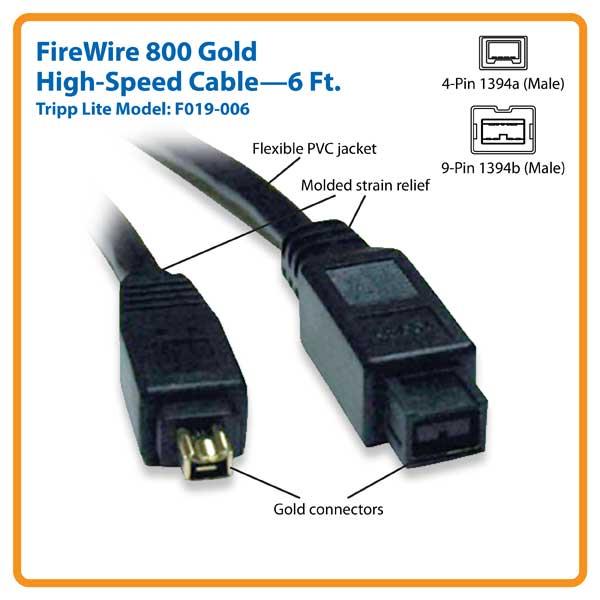 Amazon Com Tripp Lite Firewire 800 Ieee 1394b Hi Speed