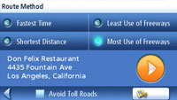 Route method screen