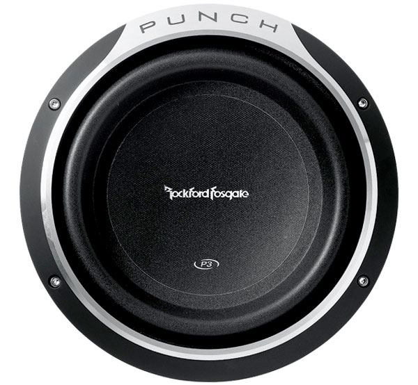 rockford fosgate punch p3 shallow 10 inch 300 watt subwoofer vehicle subwoofers