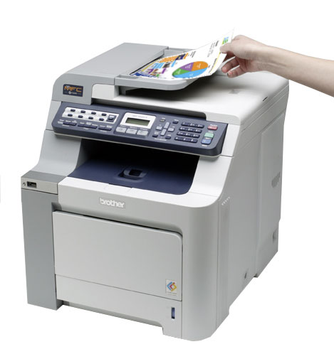 Brother mfc 9450cdn color laser multifunction center with for Brother hl l2380dw document feeder