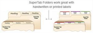 SuperTab Folder work great with handwritten or printed labels