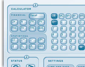 Convenient access to a paper calculator or your smartpen settings.