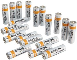 The AmazonBasics AA Alkaline Batteries