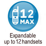expandable up to 4 handsets