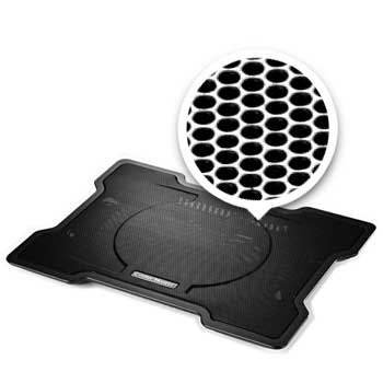 Desk And Lap Laptop Cooling Pad With 140mm Blue Led Fan