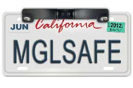 Mounts on license plate