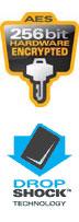 Drop Shock and 256 -bit encryption graphics