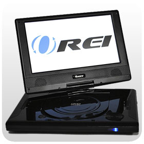 Portable DVD, Widescreen, Swivel,Region FREE DVD Player,PAL/NTSC Compatible, Plays Region 1 2 3 4 5 6 0 DVDs ORIE P901