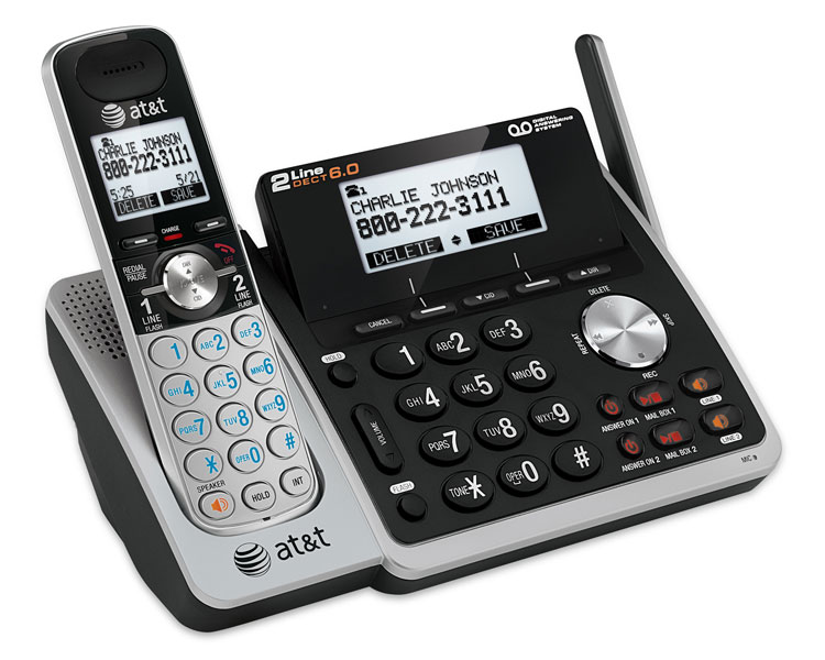 simple cordless phone with answering machine