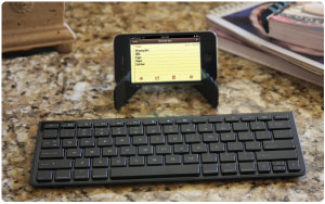 The keyboard makes typing more comfortable than struggling with phone keypads.