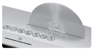CDs und DVDs können einzeln geschreddert werden