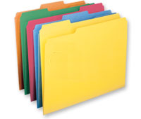 Reinforced 2-Ply Tabs, rainbow of colors