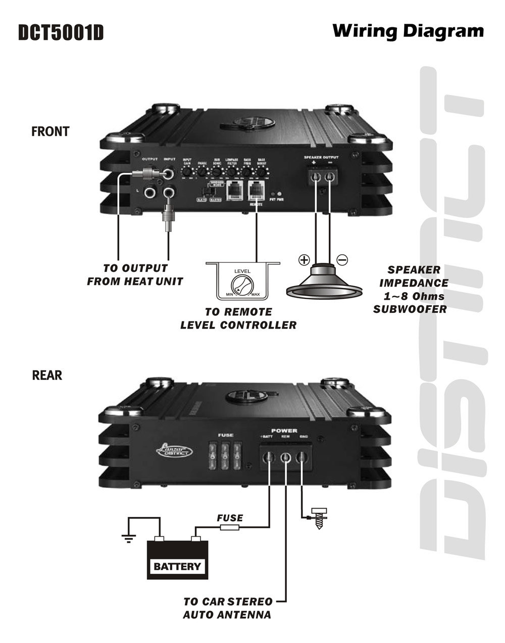 DCT5001D_diagram lanzar wiring diagram lanzar maxp154d wiring diagram \u2022 wiring Car Stereo Fuse at mifinder.co