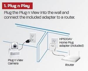 DIAMOND PlugnView Remote Home Monitoring Camera HP500CK