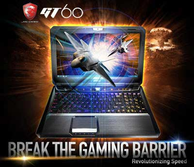 GT60 0NC 004US main MSI Computer Corp. Notebook GT60 15.6 Inch Laptop